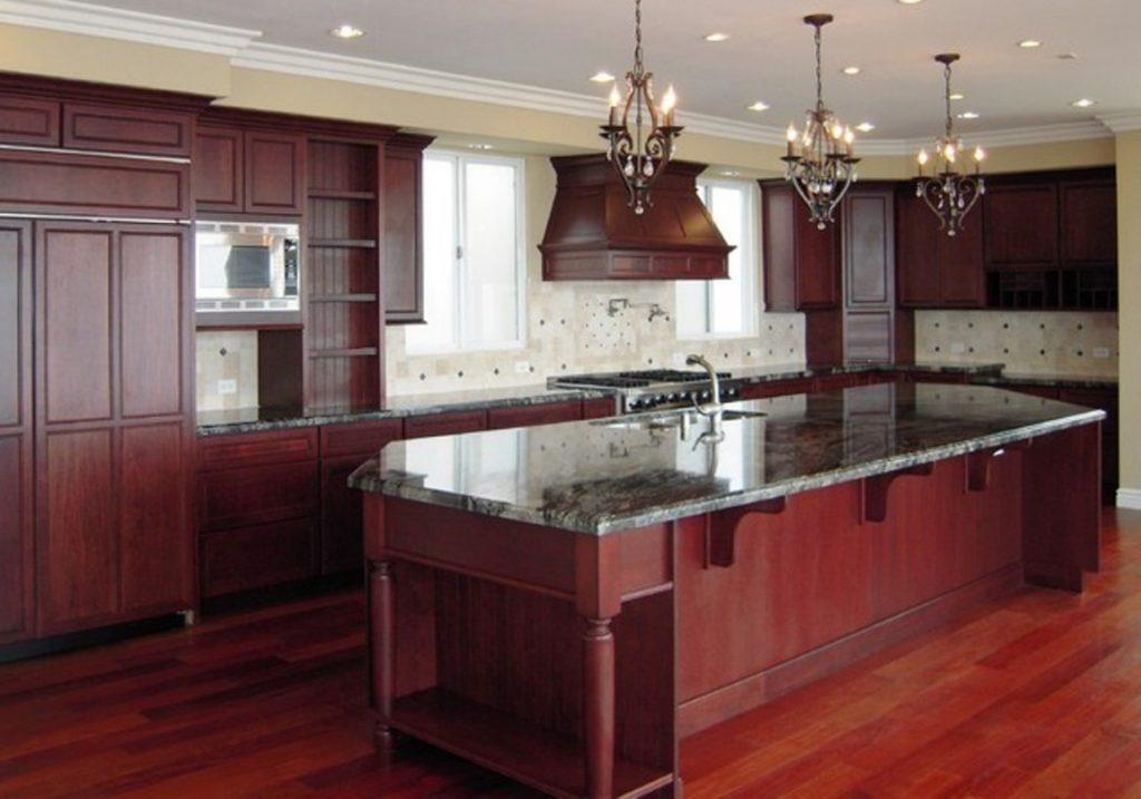 large dark kitchen cabinets