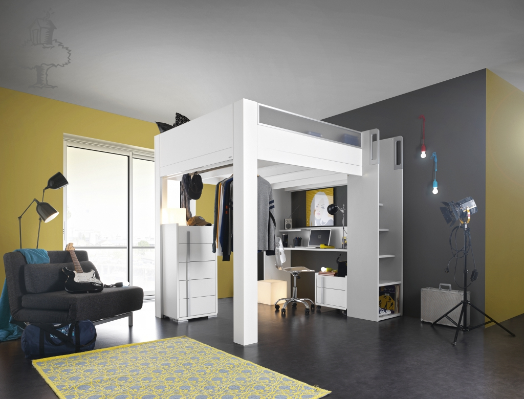 Bunk Bed with Desk elegance and practicality design