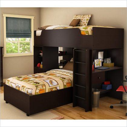 Bunk Bed with Desk elegant loft bed with desk and storage