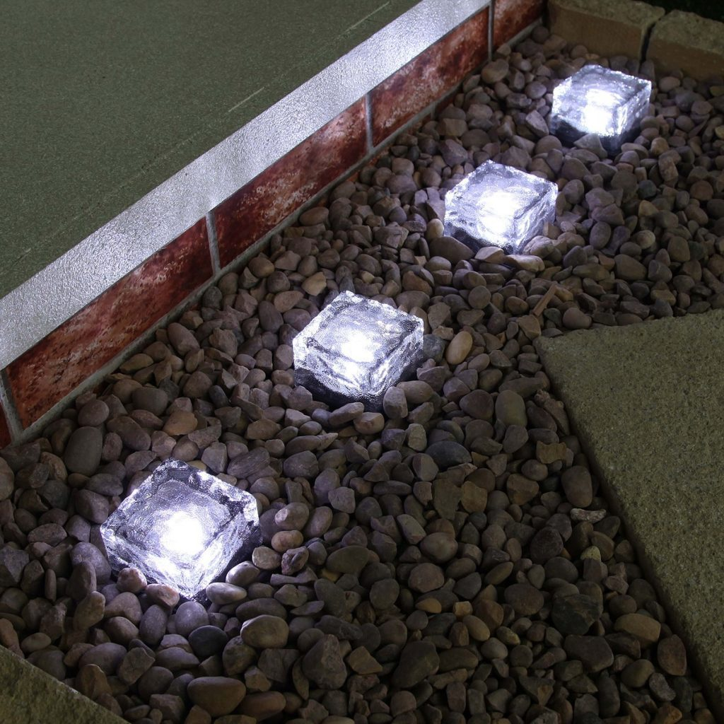 solar lighting blocks for gardens