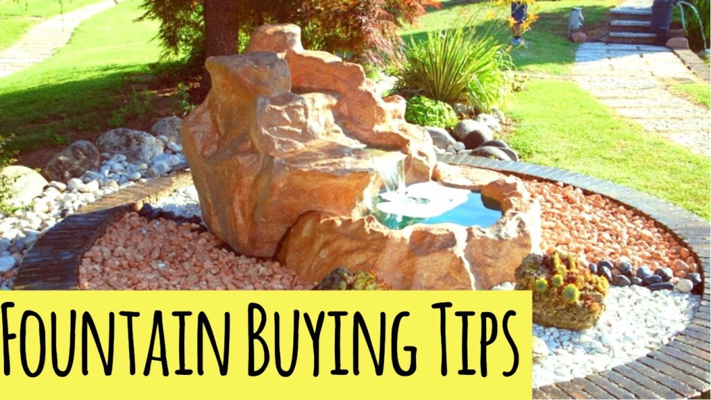 tips for buying the right fountains