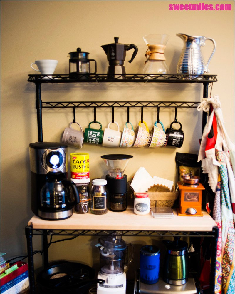 DIY coffee bar ideas and coffee cabinet style