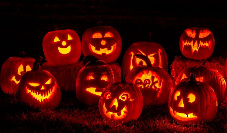 Outdoor Halloween Decorations Lighted Pumpkins