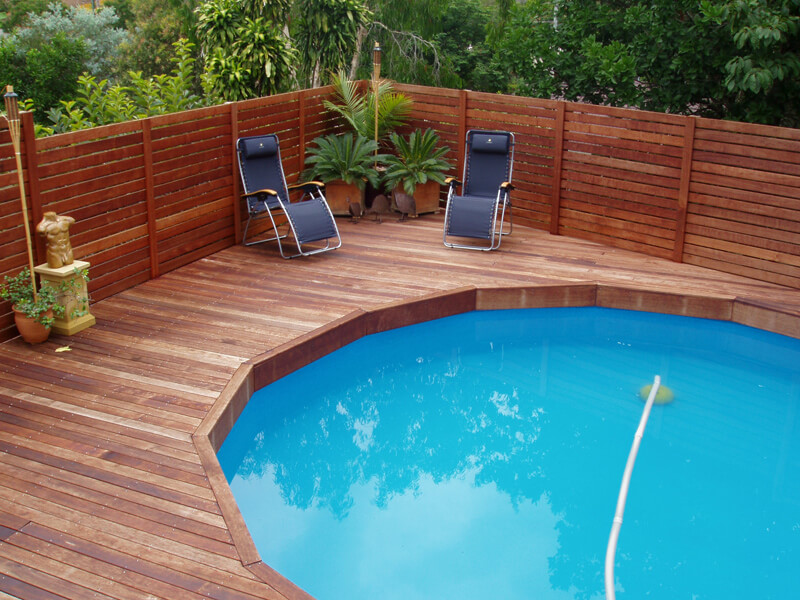 elegant pool fence ideas
