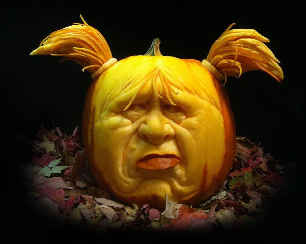 Outdoor Halloween Decorations Scary Pumpkin Girl