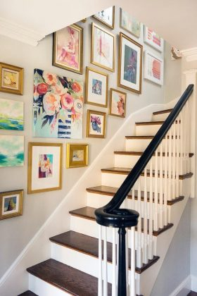 Staircase wall art display