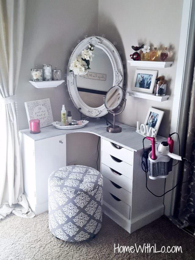diy makeup table simple ideas