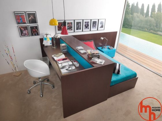 Bunk Bed with Desk youth furniture for a teenager