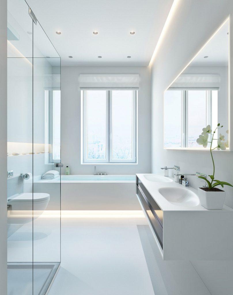 perimeter lights for bathroom lighting ideas