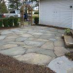 Stone patio various pattern designs