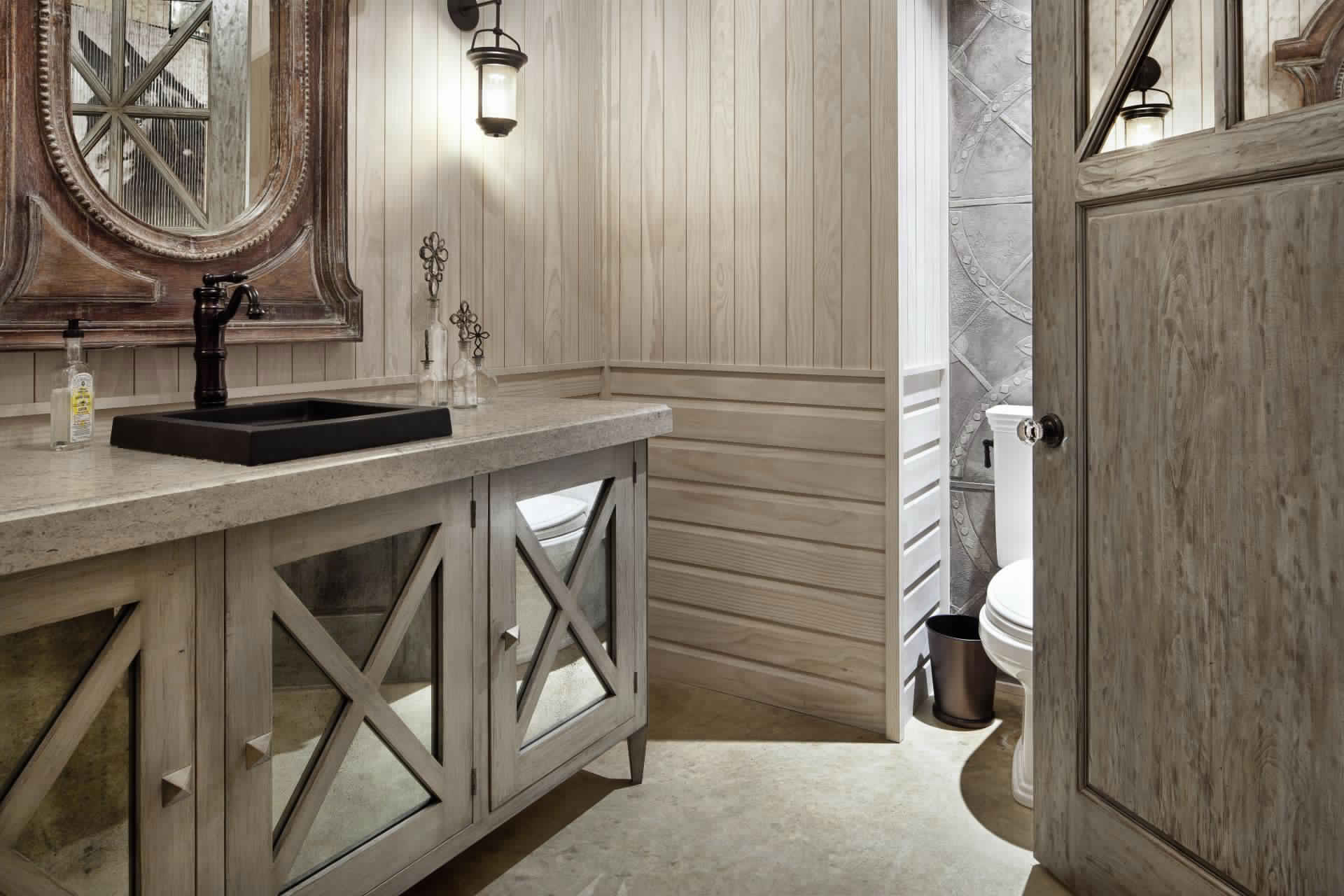Rustic Bathroom Ideas-Bathroom design in country style