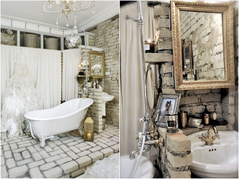 Rustic Bathroom Ideas-Boldly and unusually looks like a brick in the bathrooms