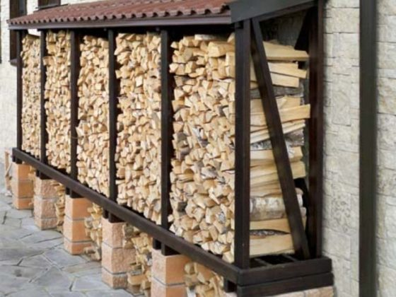 DIY Outdoor Firewood Rack-Chopped dry firewood