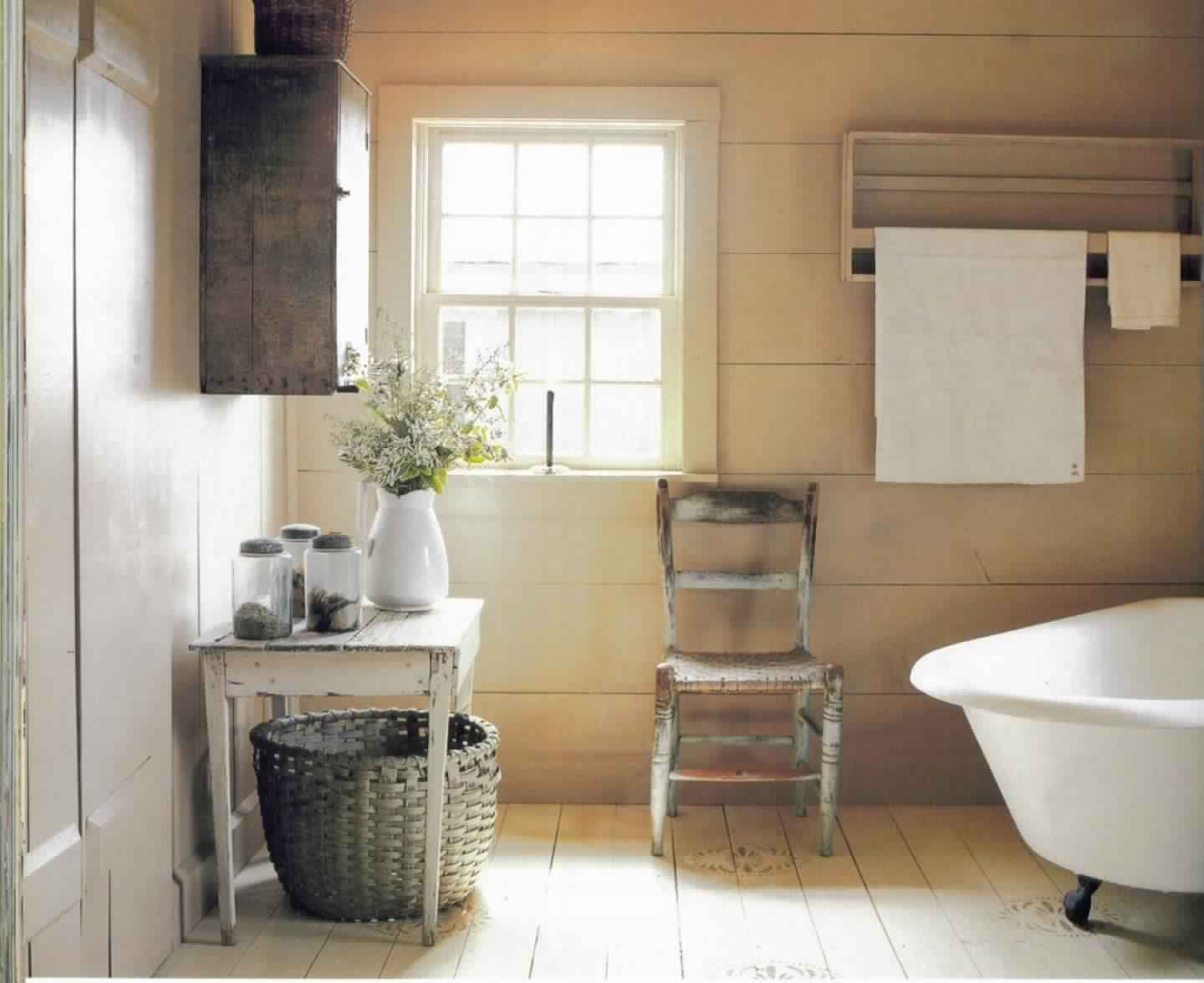Rustic Bathroom Ideas-Classic Transitional Guest Country Bathrooms
