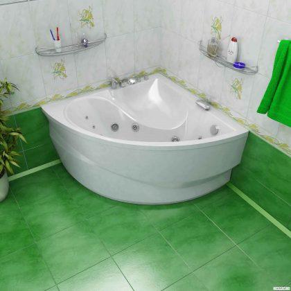 Smallest Bathtub Size-Corner hot tub