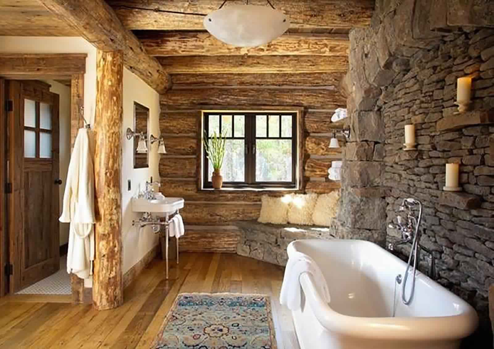 Rustic Bathroom Ideas-Country style bathroom
