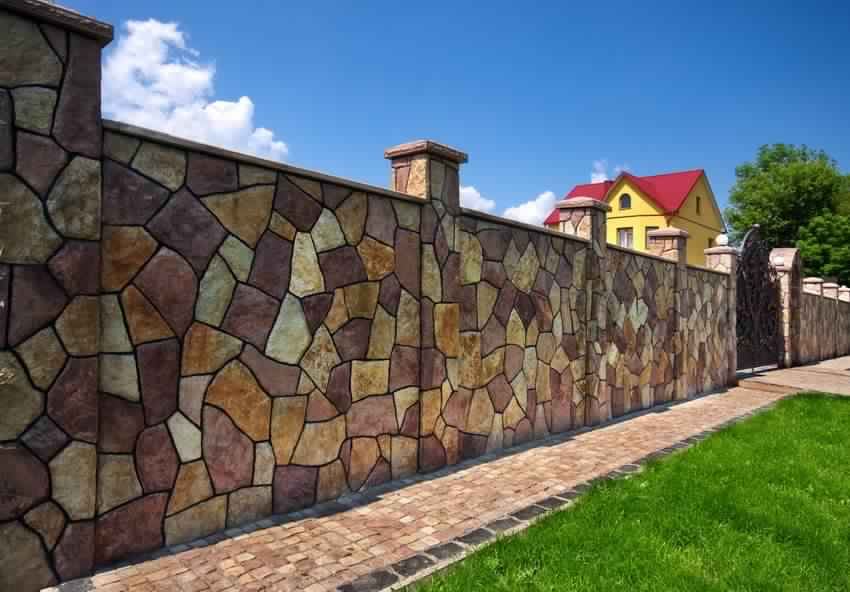 Privacy Fence Ideas-Design of concrete fence private house