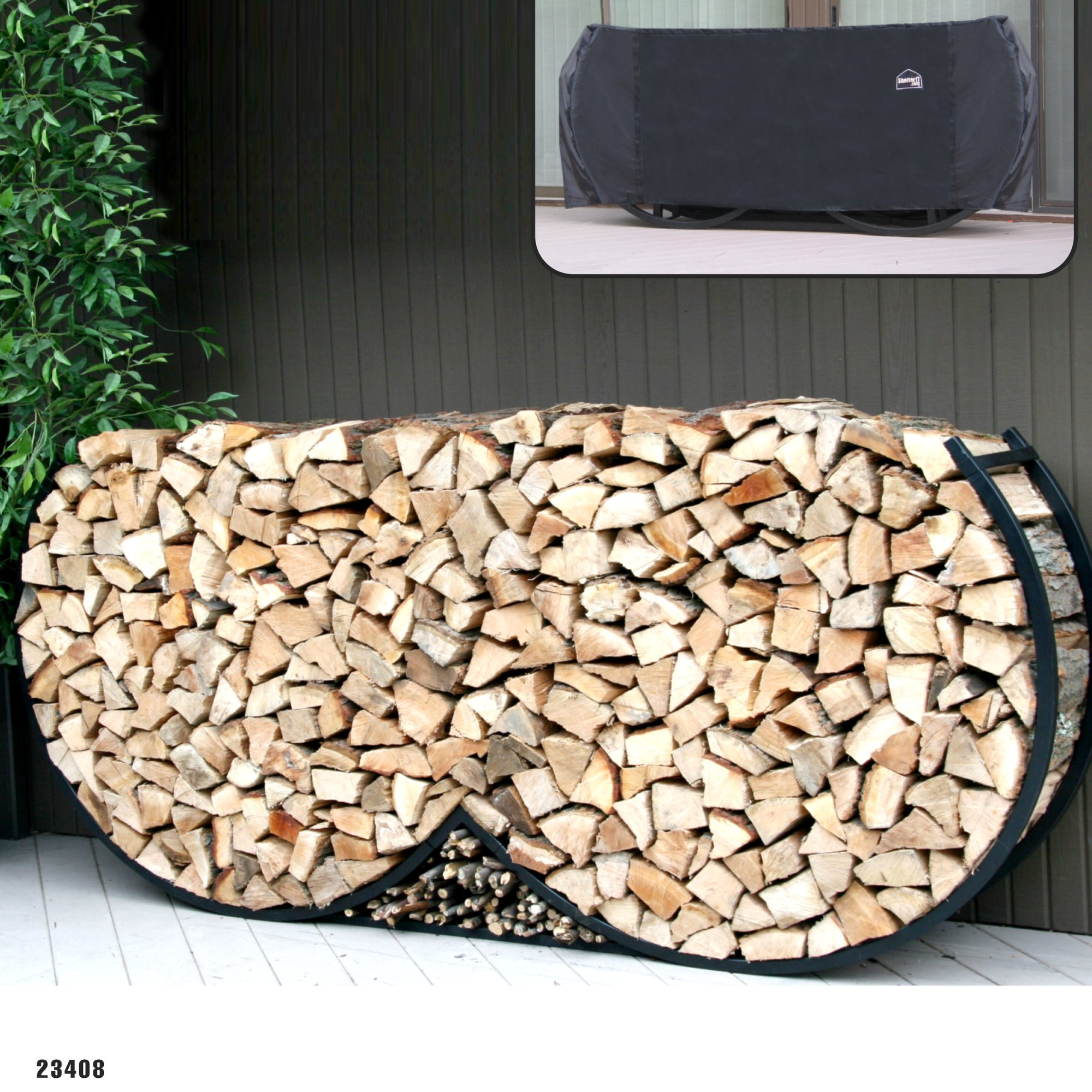 DIY Outdoor Firewood Rack-fireplace accessories