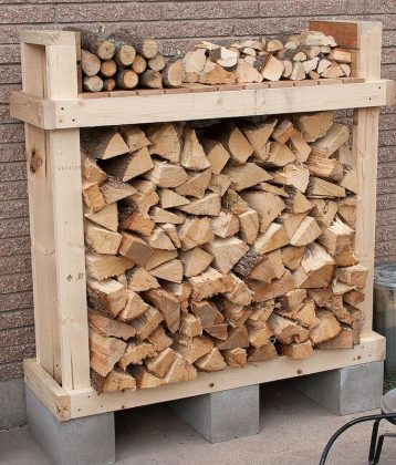 DIY Outdoor Firewood Rack-Firewood Rack With Roof