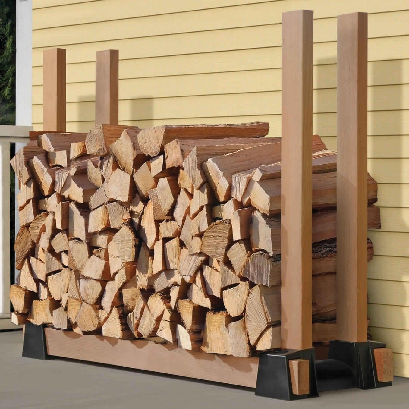 DIY Outdoor Firewood Rack-handmade rack