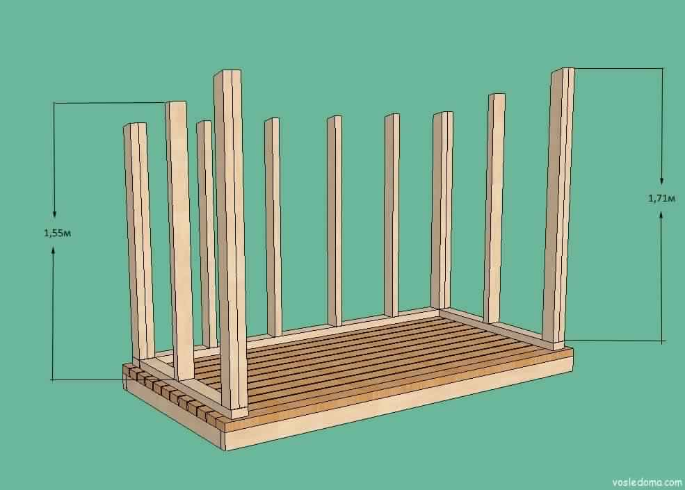 DIY Outdoor Firewood Rack box drawing