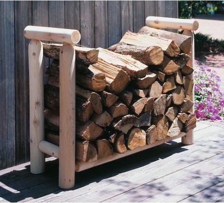 DIY Outdoor Firewood Rack-Firewood basket of wood