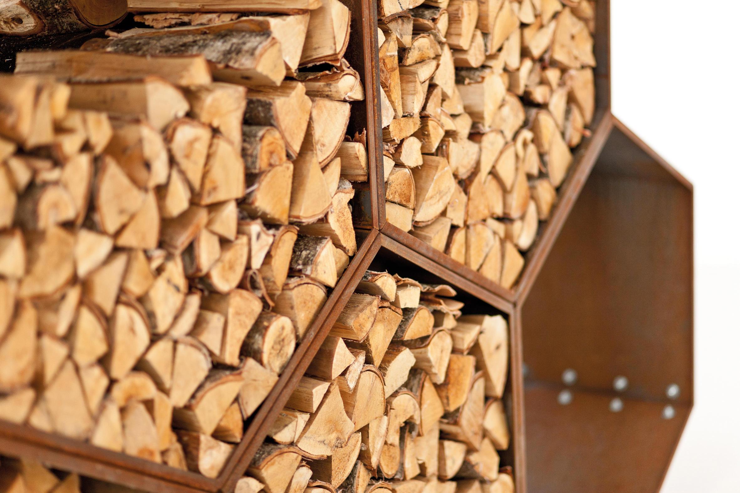 DIY Outdoor Firewood Rack-for half of Wood