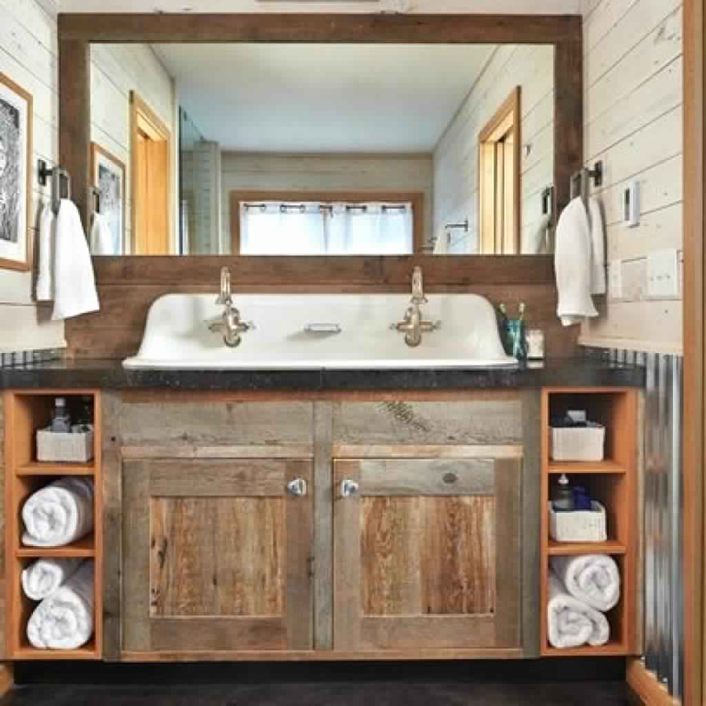 Rustic Bathroom Ideas-Interior design bathroom and country-style