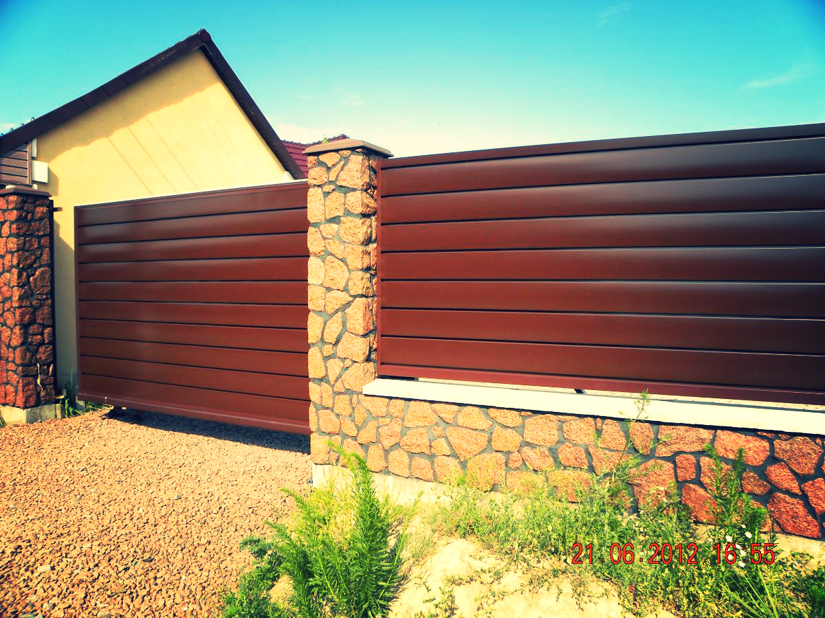 Privacy Fence Ideas-Metal Solid fence