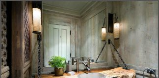 Rustic Bathroom Ideas-Modern Style Rustic Bathroom