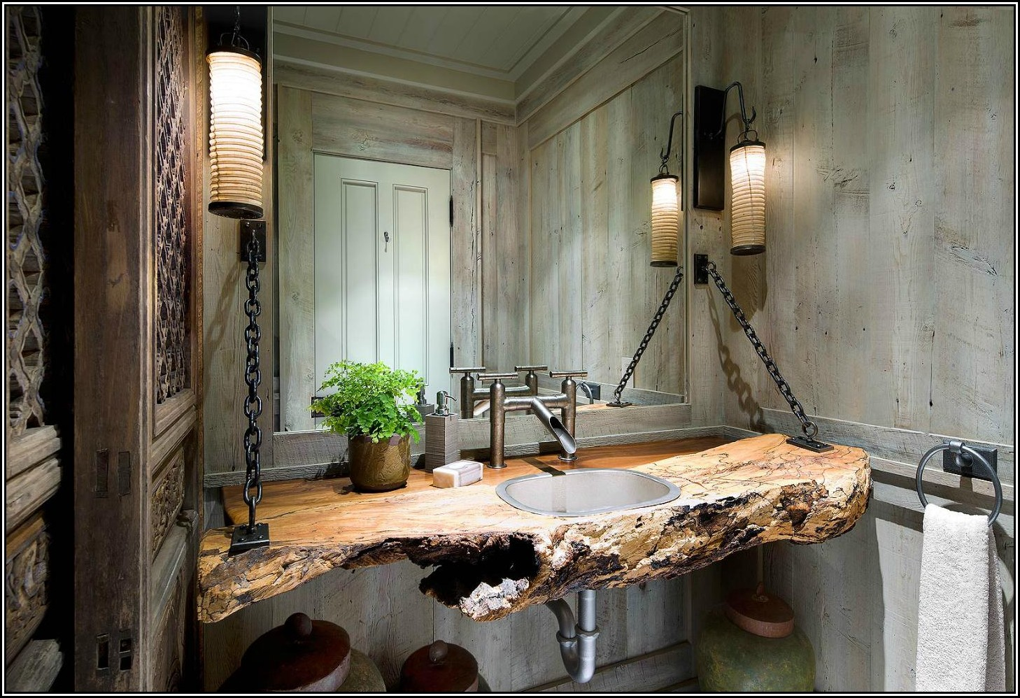 Rustic Bathroom Ideas-Modern Style Rustic Bathroom