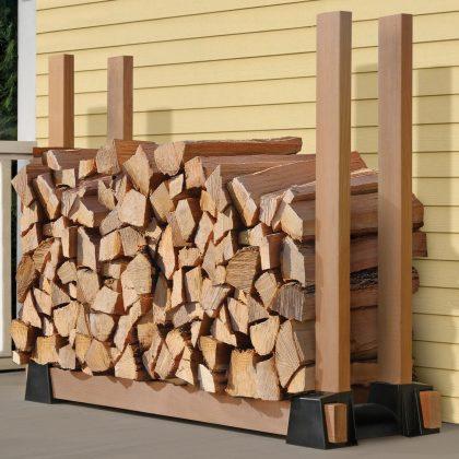DIY Outdoor Firewood Rack-Wood Storage