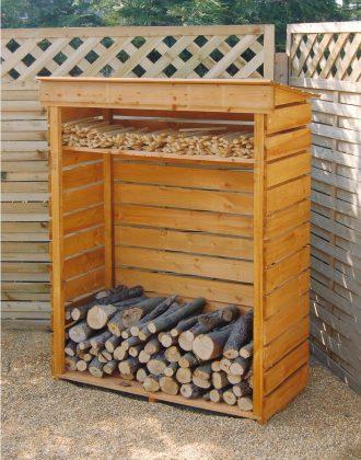 DIY Outdoor Firewood Rack-Roof Rack Design