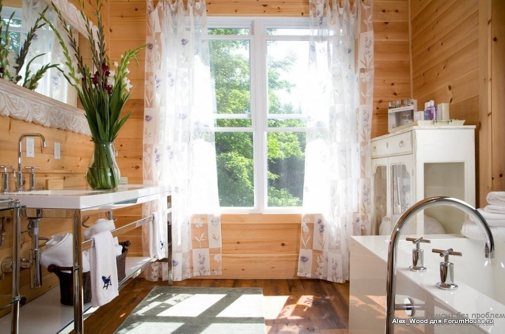 Rustic Bathroom Ideas-Rustic charm country style bathroom