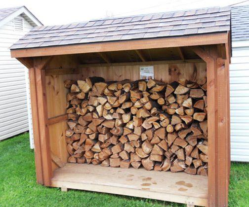 DIY Outdoor Firewood Rack Wooden storage