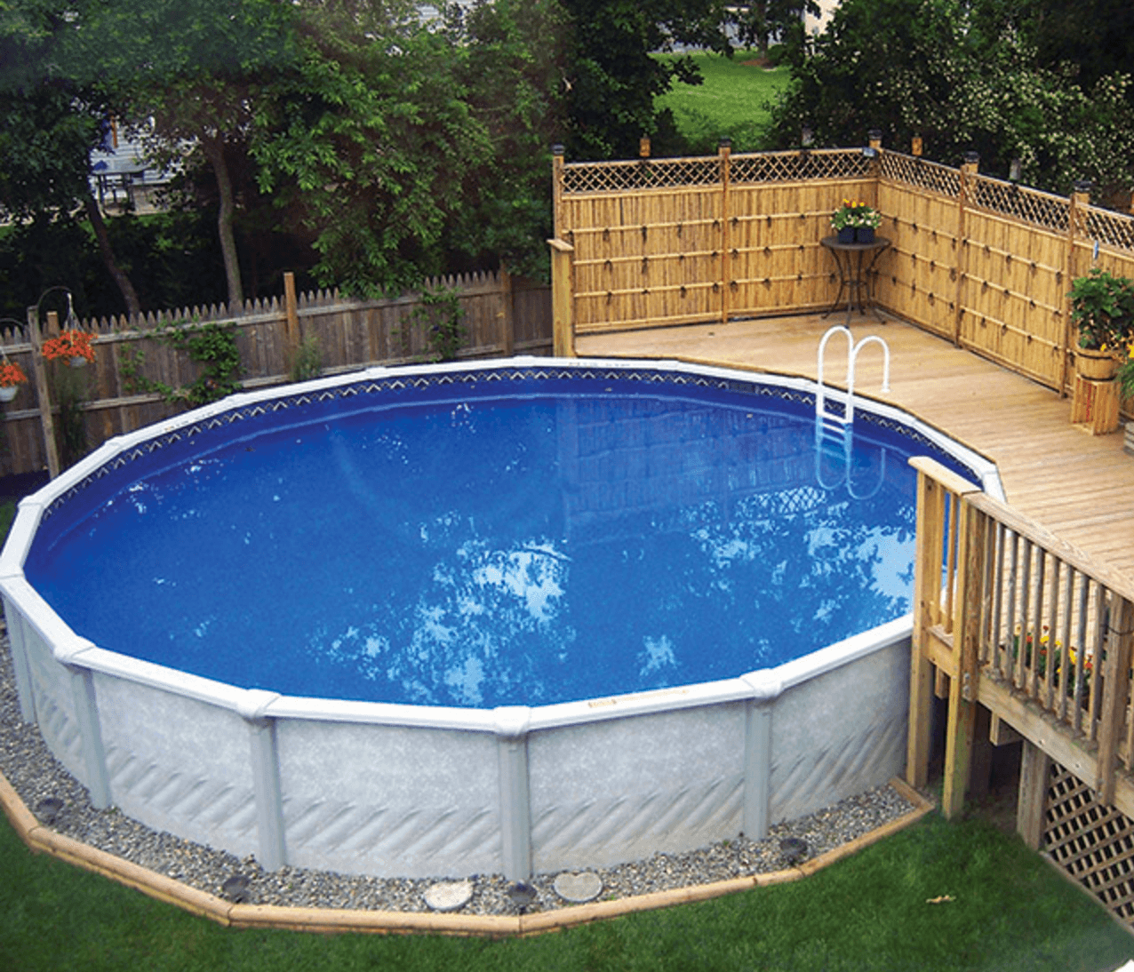2018 best above ground pool ideas with building tips - Above ground pool deck ideas on a budget ...