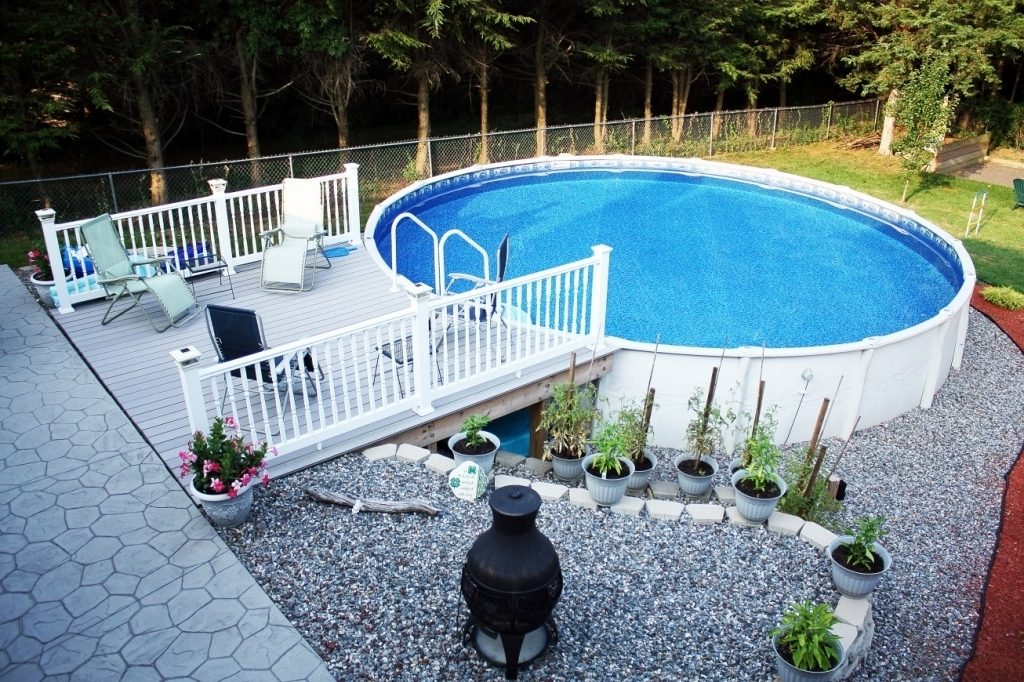 cool above ground pool ideas