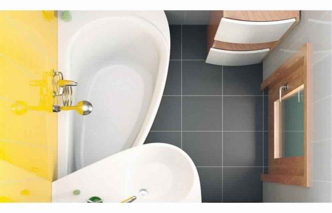 Smallest Bathtub Size-asymmetric bathtub
