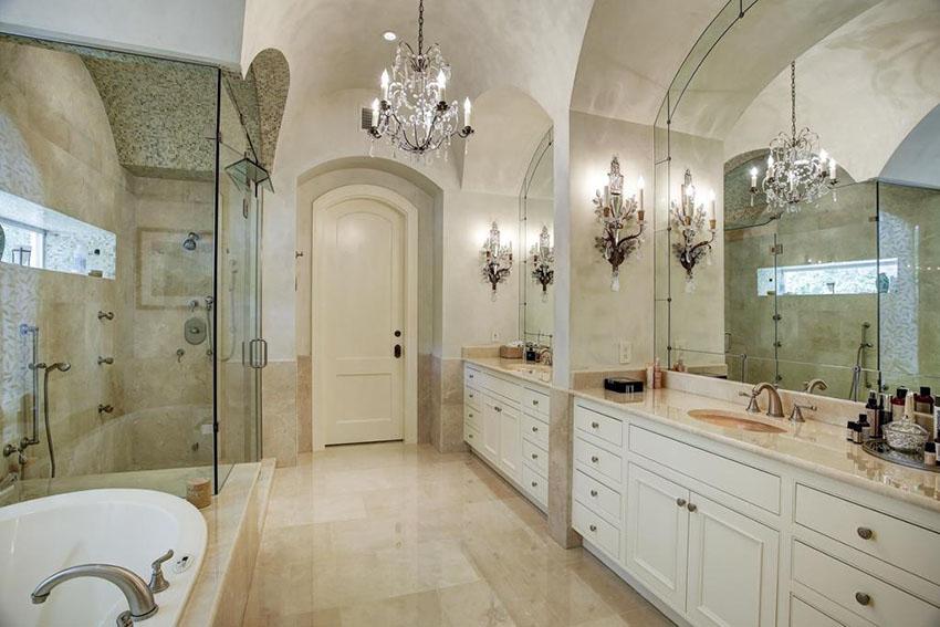 elegant bathroom lighting chandelier