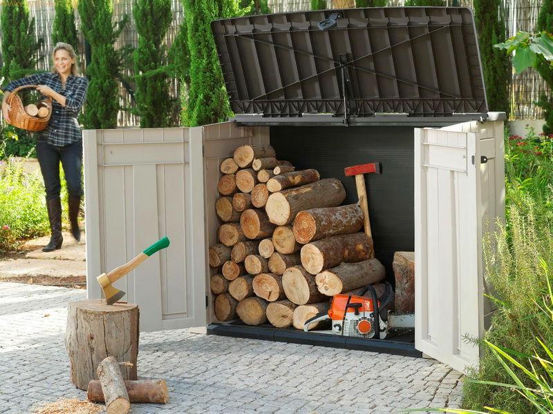 DIY Outdoor Firewood Rack wonderful design for storage firewood box