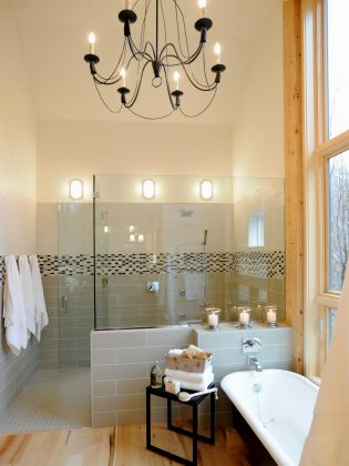 chandelier in bathroom 3