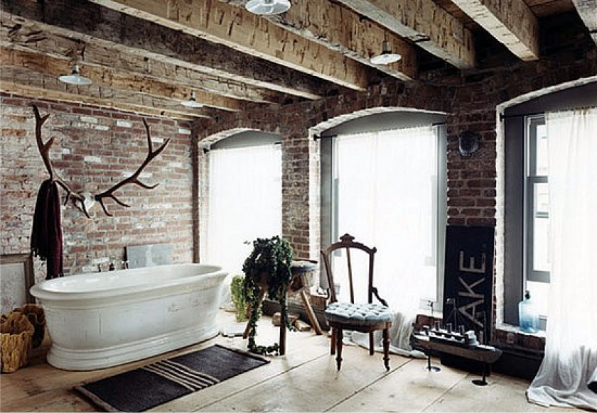 Rustic Bathroom Ideas-elements of this style in the Interior