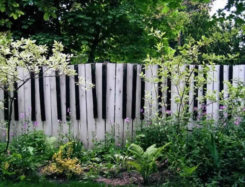 Privacy Fence Ideas-fence panels piano decorative design
