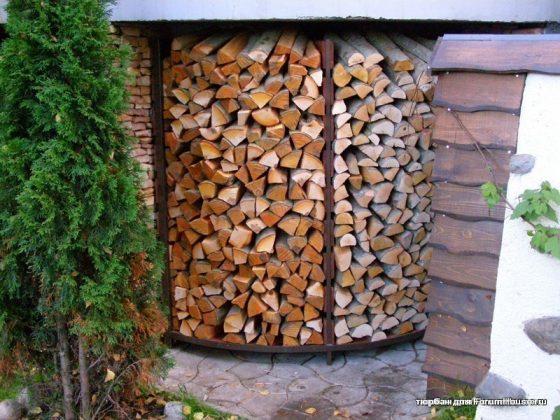 DIY Outdoor Firewood Rack-firewood Storage