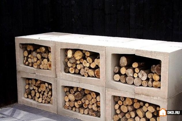 DIY Outdoor Firewood Rack-firewood in style