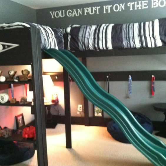amazing loft bed with slide