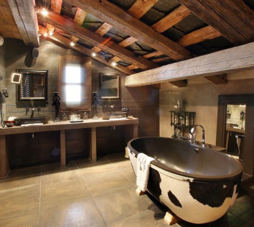 Rustic Bathroom Ideas-modern rustic simplicity of a hunting lodge