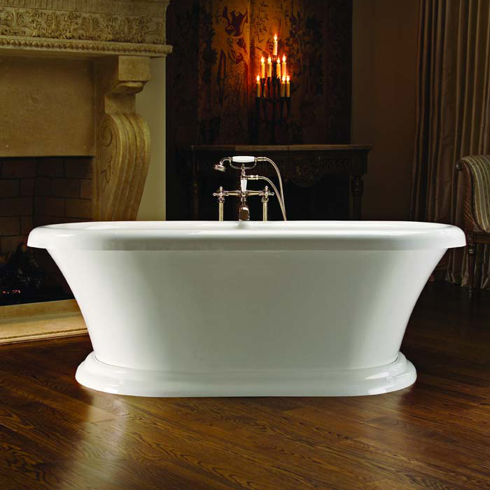 Smallest Bathtub Size - pedestal bathtub