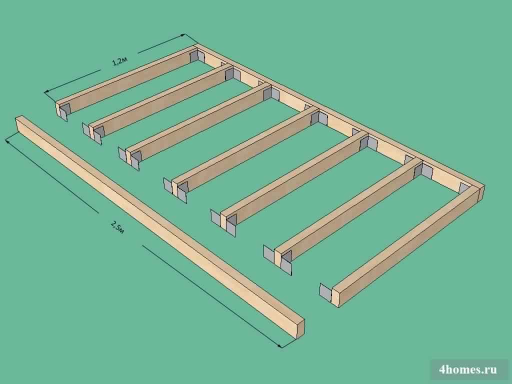 DIY Outdoor Firewood Rack layout built