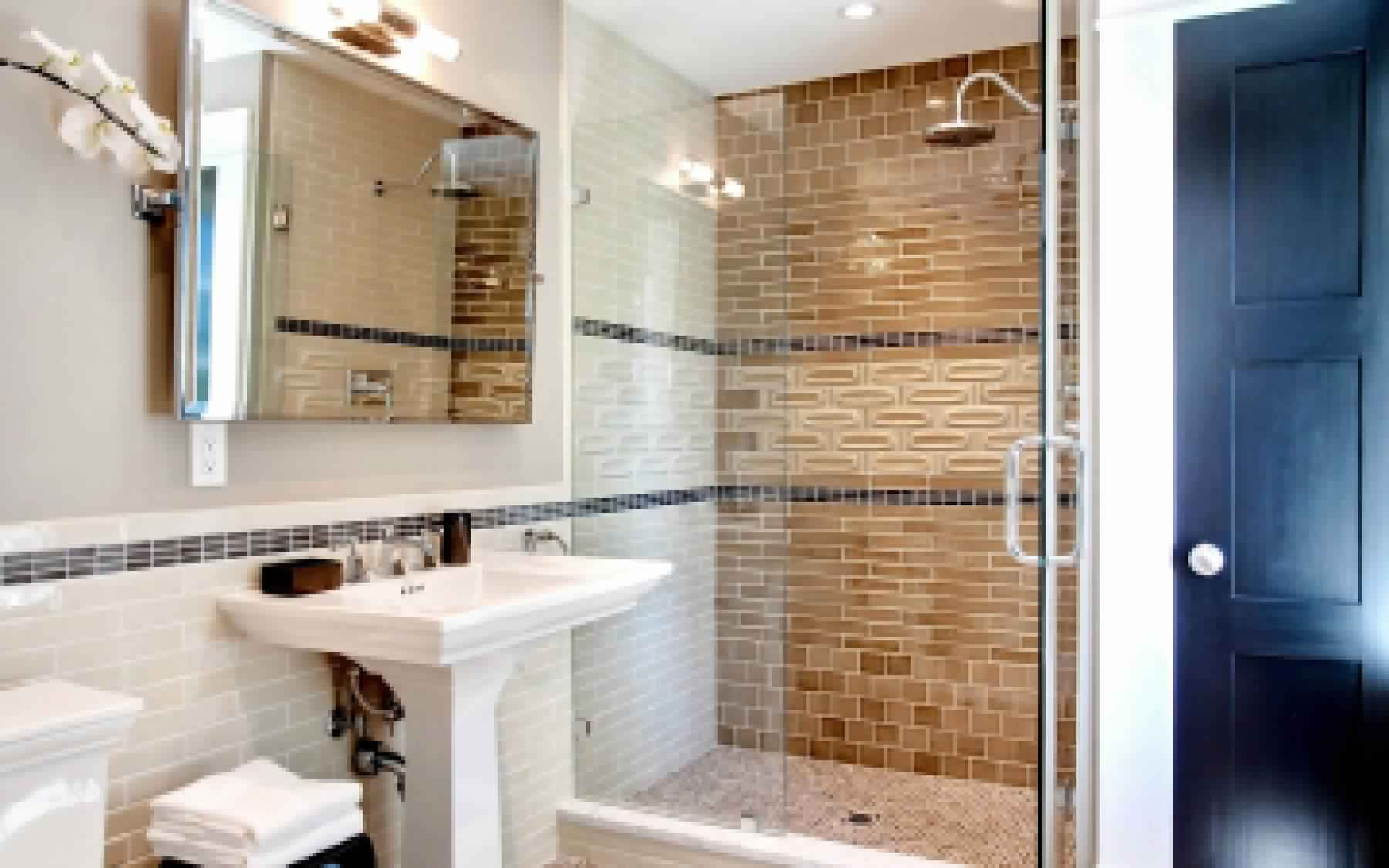 Rustic Bathroom Ideas-side panels, doors and roofs with their hands in the shower